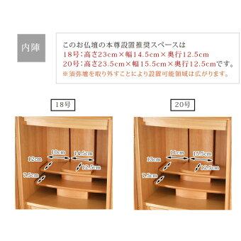 【クィーン桜18号・20号】内陣・本尊スペースサイズ