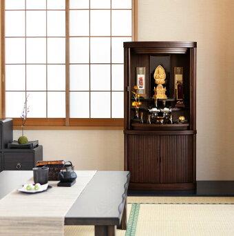 【国産仏壇コーエンナラライトブラウン20×40号】洋室設置イメージ