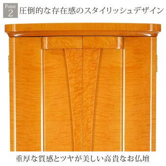 【グランドイオスゴールドブラウン18×52号】お仏壇周りを綺麗に保つ収納と機能