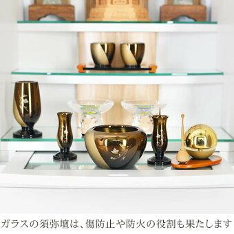 [保障付き][送料無料][設置無料]モダン仏壇【モントシルキーホワイト15×40号】ガラスの須弥壇は傷や防火の役割も果たします