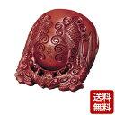 楠 杢魚 摺り漆仕上 龍彫 4.5寸〜6.0寸