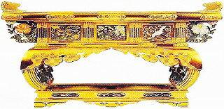 寺院 仏具 寺院用(本願寺派 西) 寺院仏具 三鳥型前卓 6.5尺