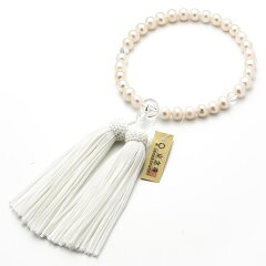 数珠・淡水真珠 8mm 水晶仕立 数珠/女性用/淡水真珠/京念珠/水晶