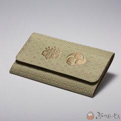 創業100余年の専門店が選ぶ上質の品宗派紋入り数珠袋 真言宗(桐巴) 浅緑