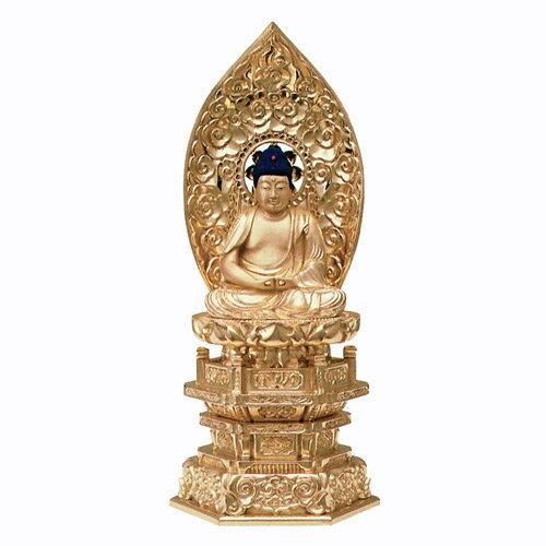 仏像・純金箔押 中京型 七重台座 肌金粉仕上 座弥陀(3.5寸):仏壇・仏具専門店 ぶつえいどう