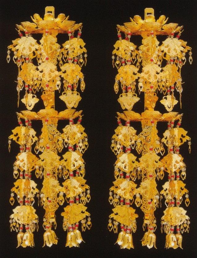 輪灯瓔珞二重六段真鍮本金メッキ5.0号(1対入):仏壇 仏具 神棚のハセガワ仏壇