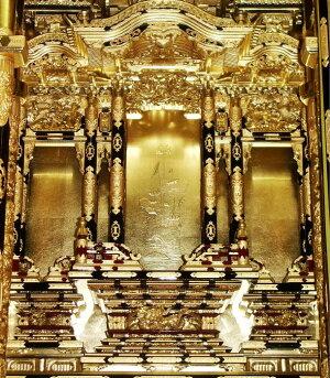【三河型うねり欄間御坊様屋根】20号金箔仏壇