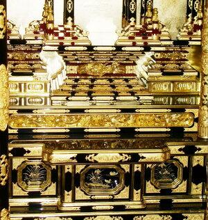 内陣棚周り【三河型うねり欄間御坊様屋根】20号金箔仏壇