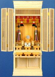 ドッシリとした床置型の御霊舎特製祭壇宮「京」22号(祖霊舎)