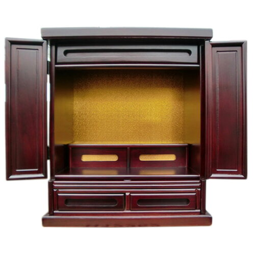 小型仏壇・アイリス紫檀色・大き目の位牌設置可能