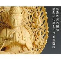 【仏像】釈迦如来慈悲の化身・普賢菩薩・総柘植高級上彫飛天光背・2.0寸【smtb-td】【RCP】