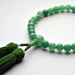 お数珠 高級インド翡翠使用格安高級・お数珠・インド翡翠・女性用・桐箱付 メール便送料無料