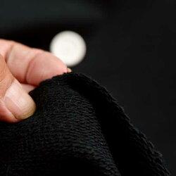 ニット生地度詰めインレー裏毛ニット黒175cm幅しっかり密度50cm単位販売価格手芸