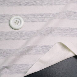 ニット生地透け感のある透かし編みボーダー生成りソーピング涼しいリネン混天竺手芸ハンドメイドクラフト子供服50cm単位はかり売りクール可愛い