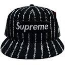 Supreme (シュプリーム) TEXT STRIPE NEW ERA