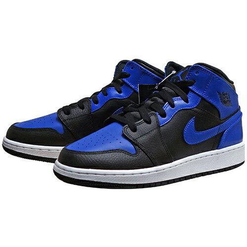靴, スニーカー NIKE AIR JORDAN 1 MID (GS) HYPER ROYAL 554725-077