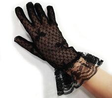 【あす楽対応】ネイルを目立たなくするレースブラックフォーマル手袋(手ぶくろ)(冠婚葬祭てぶくろ通夜葬儀葬式告別式法事ブラックフォーマル喪服礼装)