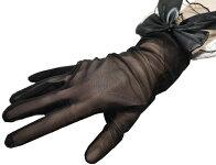 【あす楽対応】【送料無料】上品レースとリボンのブラックフォーマル手袋(手ぶくろ)(黒冠婚葬祭てぶくろ通夜葬儀葬式告別式法事ブラックフォーマル喪服礼装)