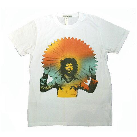 JUNK FOOD(ジャンクフード)半袖TシャツJimi Hendrix(ジミヘン)Electric White