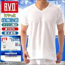 【B.V.D.】 接触冷感 メッシュ編み 吸水速乾 V首半袖Tシャツ ...