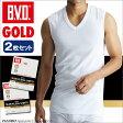B.V.D.GOLD Vネックスリーブレス 2枚セット LL  BVD 【綿100%】 シャツ メンズ インナーシャツ ノースリーブ 下着【白】 【コンビニ受取対応商品】
