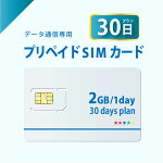 2GB/日30日プランプリペイドSIMカード
