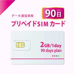 【送料無料】データ通信 プリペイド SIMカード 90日プラン 【開通期限:2022/07/31】 docomo MVNO 回線 使い捨てSIM テレワーク 在宅勤務 4G/LTE対応 日本 国内用