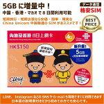 中国・香港/マカオ【ChinaUnicom】データ通信プリペイドSIMカード(4Gデータ通信・8日/2GB)