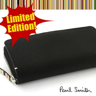 Rare premium zip straw grain long wallet / men wallet /Paul Smith/PSK910 fs3gm of the overwhelming storing power ★ dealer-limited of the Paul Smith long wallet (with a box) dd