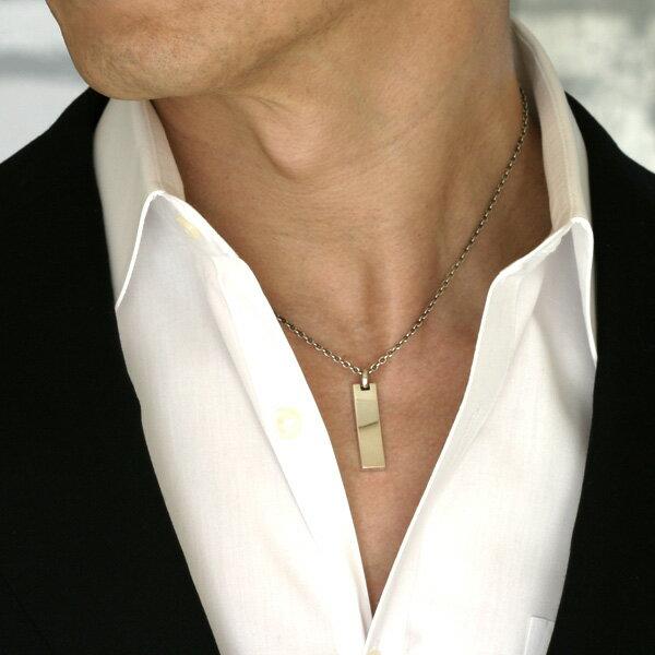 メンズネックレス ブラックダイヤ & シルバー925 【MODEAL】 BLACK DIA & SILVER925 MENS NECKLACE ダイヤモンド ネックレス メンズ ブランド シンプル プレート 男性用 ネックレス アクセサリー チェルシーアベニュー【あす楽対応_】