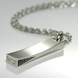 ネックレス ブラック シルバー ダイヤモンド ブランド シンプル プレート アクセサリー チェルシーアベニュー