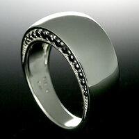 メンズリングブラックダイヤ&シルバー925