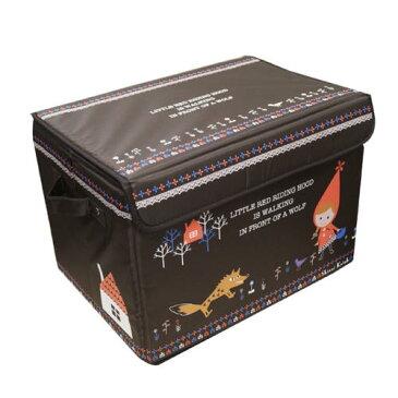 【収納】 キャビネット ボックス (赤ずきん柄)【おもちゃ箱 お片付け 子供用 可愛い ミッキー ミニー ドナルド ボックス 収納 衣替え シーズン 楽々 便利グッズ おもちゃボックス 蓋つき 可愛い 天板付き 女の子 ファンシー】