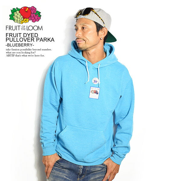 トップス, パーカー  FRUIT OF THE LOOM FRUIT DYED PULLOVER PARKA -BLUEBERRY- 0123-502fta