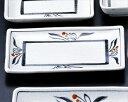 楽天布目花絵 6.0長角皿