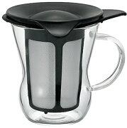 ハリオグラス ワンカップティーメーカー ブラック ホワイト
