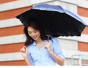 【母の日2017ギフト】【送料無料】スワロ&ぺイズリー刺繍ミニ折りたたみ日傘(晴雨兼用傘)【軽量日傘】【_包装選択】晴雨兼用