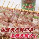 焼き鳥【国産】30本&KNKタレセット【焼き鳥】【ヤキトリ】【焼鳥】【やきとり】【BBQ】【バーベキュー】【冷凍】 - チキンねっと