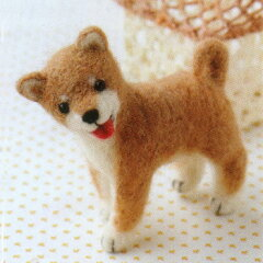 羊毛フェルト キット(フェルト羊毛キット)とニードルで作る犬&猫羊毛フェルト 犬キットフェ...
