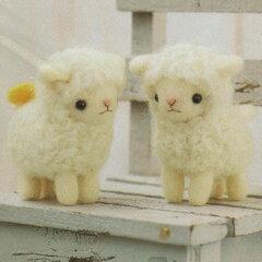 羊毛フェルト キット(フェルト羊毛キット)とフェルティングニードルで作る、可愛いマスコット...