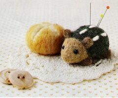 羊毛フェルト キット(フェルト羊毛)とニードルで作る可愛い「うさたま」シリーズ初心者向け羊...
