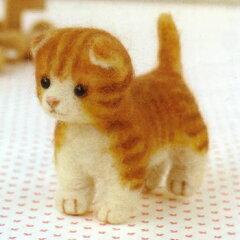 羊毛フェルト キット(フェルト羊毛キット)とニードルで作る犬&猫羊毛フェルト 猫キットフェ...