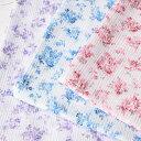 クラフトショップ ポピーで買える「マスク生地 夏用 涼しい 高島ちぢみ プリント 薔薇柄 巾110cm (10cm¥110 50cm(5)より カットいたします。)」の画像です。価格は110円になります。