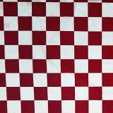 赤・白 市松模様 生地 格子柄 ブロード 和柄 赤×白 コスプレ 巾110cm×10cm=77円(50cm以上から)