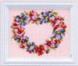 ルシアン(コスモ) クロスステッチ 刺繍キット(刺しゅうキット) 四季折々の花だより 2月(アネモネ)