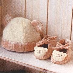 ベビー 手作りオーガニックコットンキットクマの帽子とベビーシューズ手作りキット