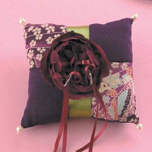 リングピロー (手作りキット)(和)が桜柄の美しいモダンタイプに!大切なリングを優しく包み...