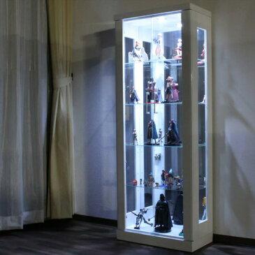 【クーポン配布中】コレクションボード 幅62cm LEDライト付 ワンピースフィギア コレクションケース ディスプレイケース 飾り棚 キュリオケース ショーケース フィギアケース コレクションラック コレクションボックス 家具通販 大川市