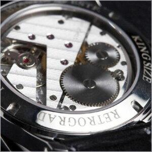 ドイツ注文品オールステンレスモデルRETROGRADEHOURCOMPLICATIONbyRainerNienaberライナニーナバー腕時計時計10P07Feb16