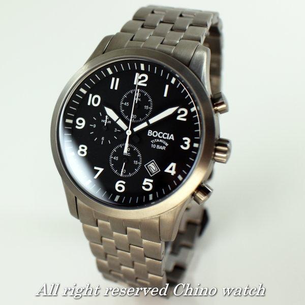 fd502467b7 ドイツ時計 Boccia Gショック Titanium ボッチア チタニュウム セイコー 3755-02 アルキメデ クォーツ クロノグラフ  カード分割:c-watch company ドイツ時計 クロノ ...